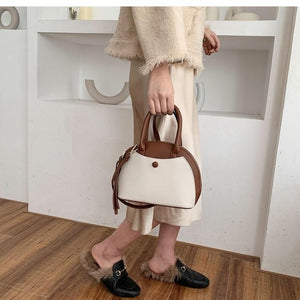 Elegant Shell Bag With Crossbody Strap