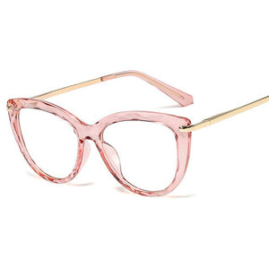 Multi-Faceted Flat Oversized Glasses