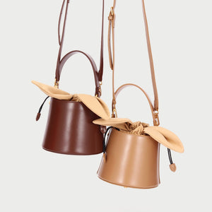 Small Bow Knot Bucket Crossbody Bag