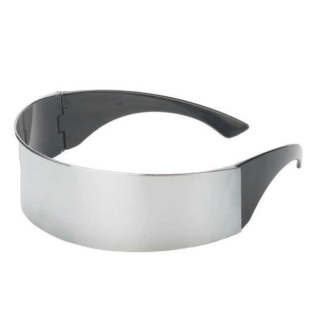 Load image into Gallery viewer, Silver Wrap Around Futuristic Sunglasses