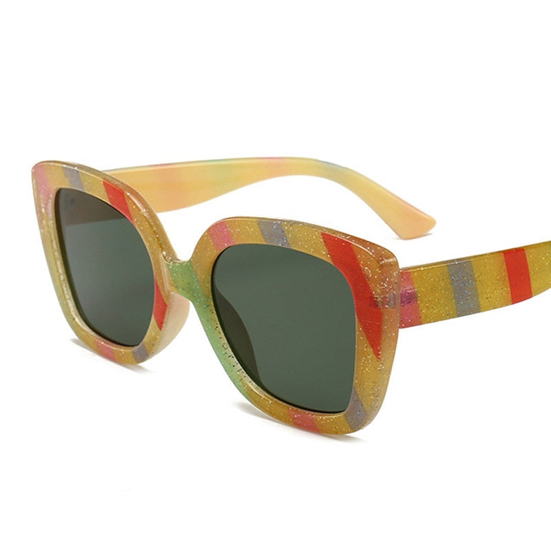Load image into Gallery viewer, Oversized Square Rainbow Sunglasses