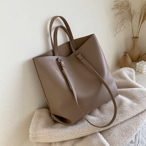 Large Synthetic Leather Tote Bag