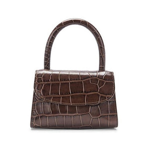 Brown Alligator Top Handle Grab Bag