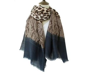 Load image into Gallery viewer, Leopard Print Contrast Pattern Scarf