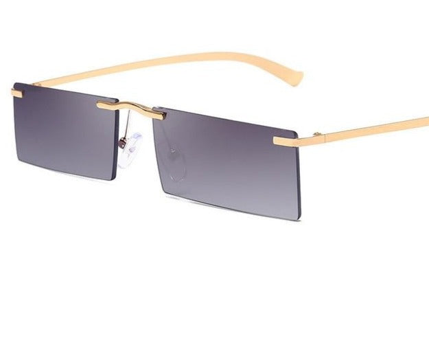 Load image into Gallery viewer, Rimless Retro Vintage Inspired Square Sunglasses