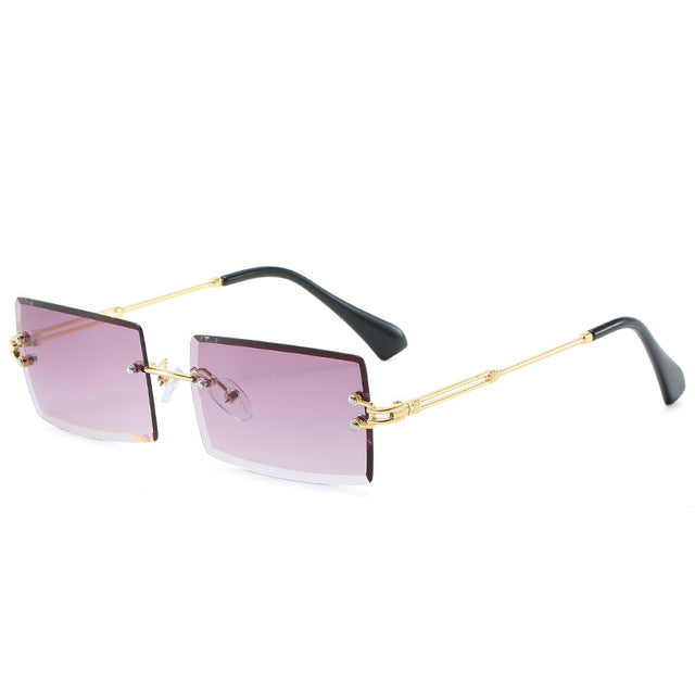 Load image into Gallery viewer, Rectangular Rimless Sunglasses
