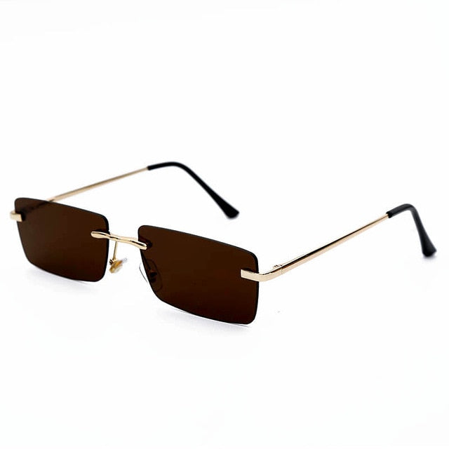 Flat Rectangle Clear Sunglasses