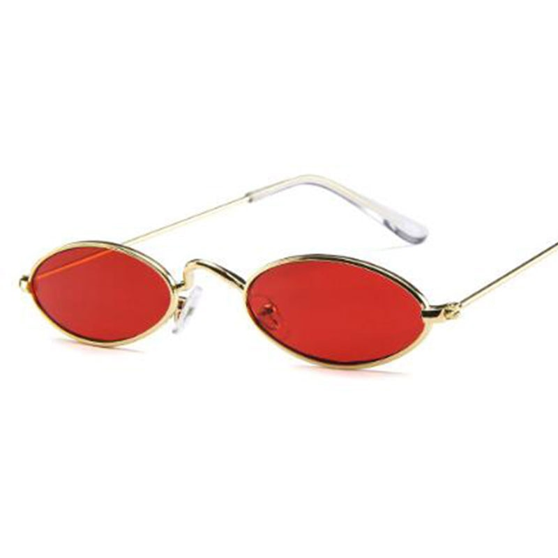 Seductive Red Round Sunglasses