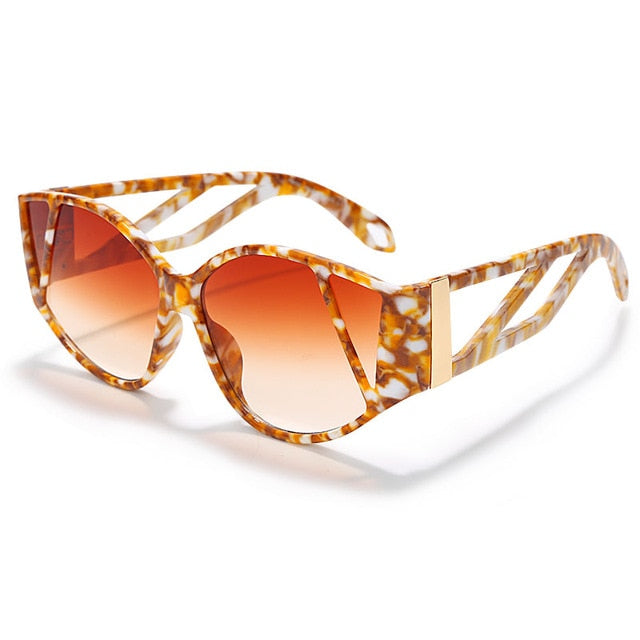 Marble Effect Vintage Inspired Sunglasses