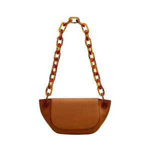 Soild Colour Bag With Chain Handle