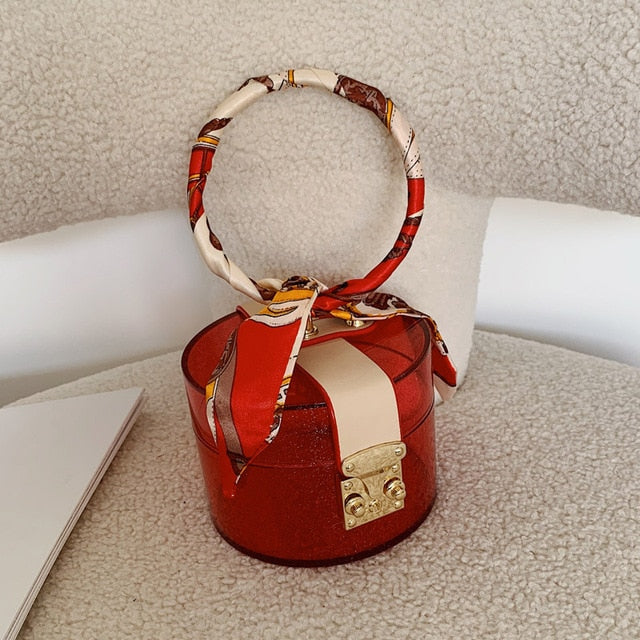 Load image into Gallery viewer, Transparent Mini Circular Bag