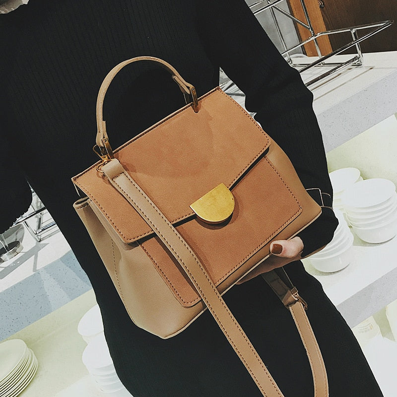 Leather Grab Bag With Crossbody Strap