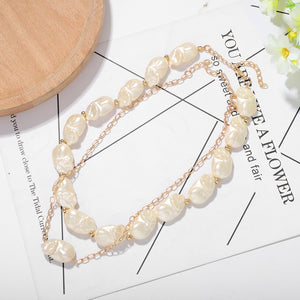 Pearl Statement Choker Necklace