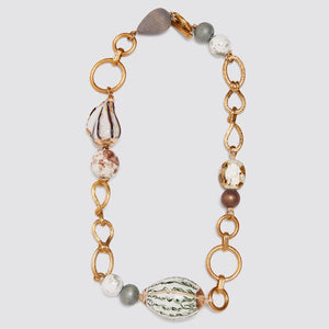 Chain And Pebble Shell Necklace