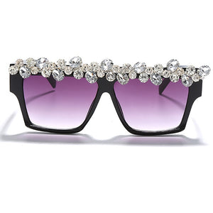 Oversized Square Diamante Sunglasses