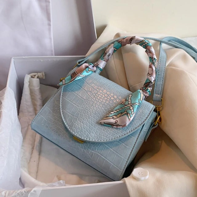 Elegant Ribbon Detail Bag With Crossbody Strap
