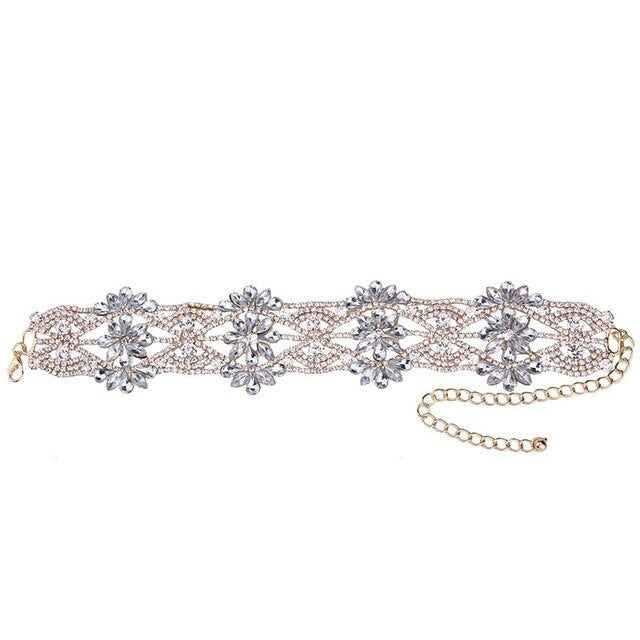 Luxury Crystal Collar Choker Necklace