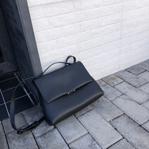 Large Black Or Tan Tote Bag With Strap