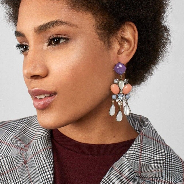 Load image into Gallery viewer, Multicoloured Dangle Drop Earrings