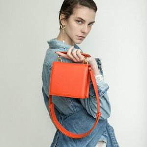 Solid Colour Bag With Crossbody Strap