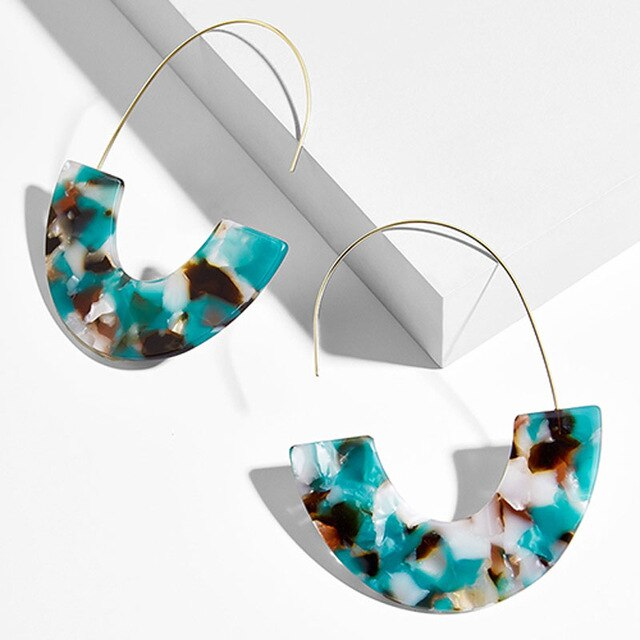 Load image into Gallery viewer, Bohemian Mix Dangle Drop Resin Earrings