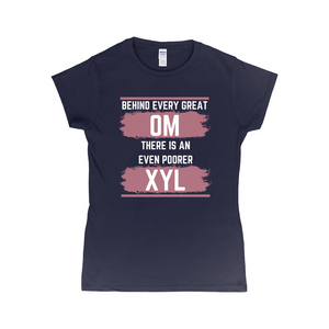 Behind Every Great OM XYL Dark T-Shirt