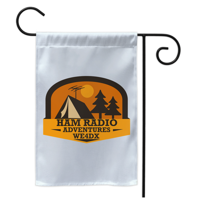 Ham Radio Adventures Double Sided Yard Flag