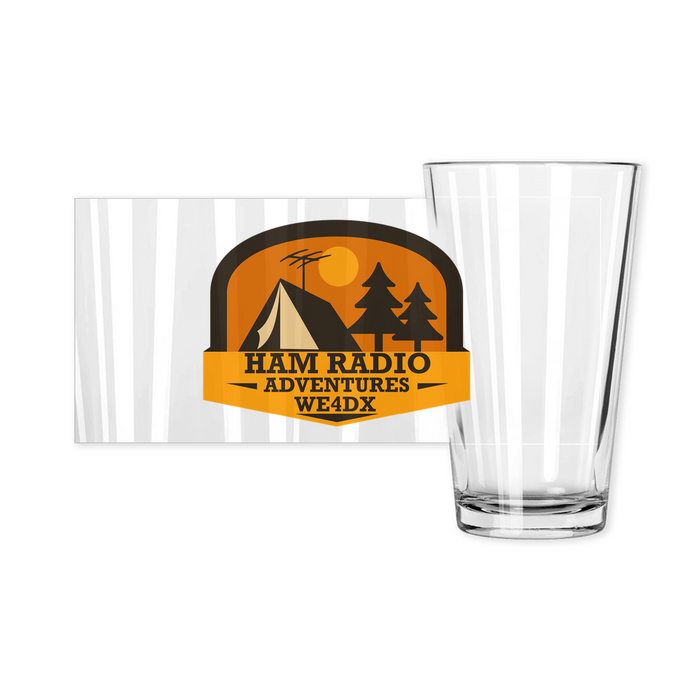 Ham Radio Adventures Pint Glass