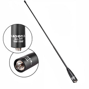Authentic Genuine Nagoya NA-771 15.6-Inch Whip VHF/UHF (144/430Mhz) Antenna SMA-Female for BTECH and BaoFeng Radios