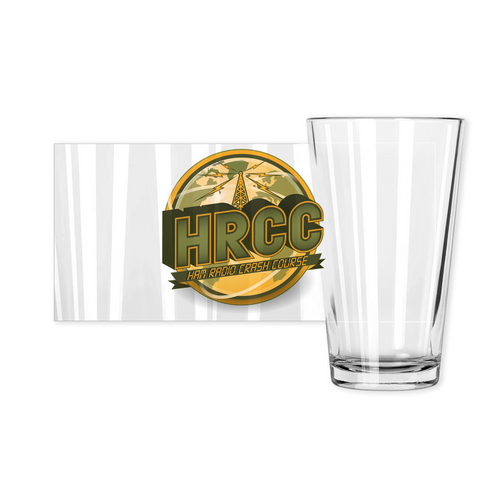 Ham Radio Crash Course Pint Glass
