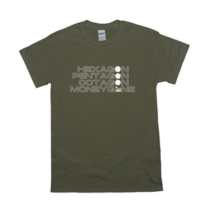 The Shape of a Moneygone Dark T-Shirt