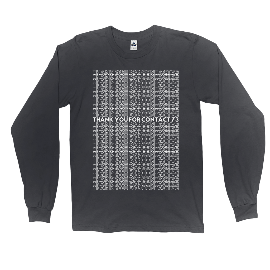 Thank you for Contact 73 Dark Long Sleeve Shirt