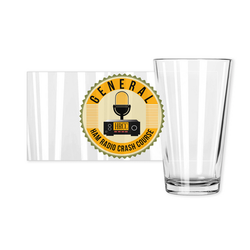 Ham Radio Crash Course General Pint Glass
