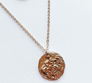 Lion Coin Necklace