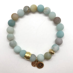 Rainbow Amazonite with choice of charm