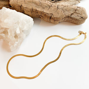Herringbone Chain - 14k Gold Plated Sterling Silver