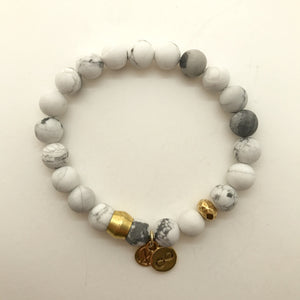 White Howlite with choice of charm