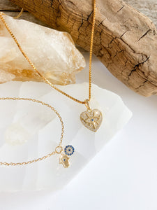 "Evil Eye ""Heart""- necklace"
