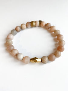 Peach Moonstone with centre bead