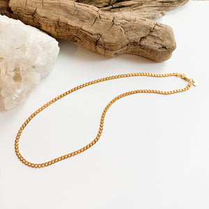 Curb Link Chain - 14k Gold Plated Sterling Silver
