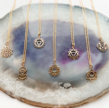 Load image into Gallery viewer, Chakra Charm Necklace Collection