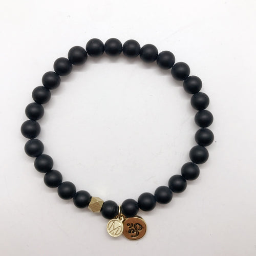 Black Onyx with choice of charm