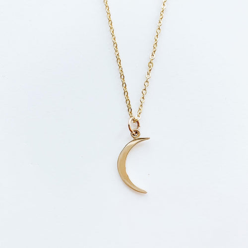 Crescent Moon Necklace - Small