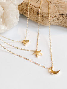"""Moon"" Necklace - Bronze"