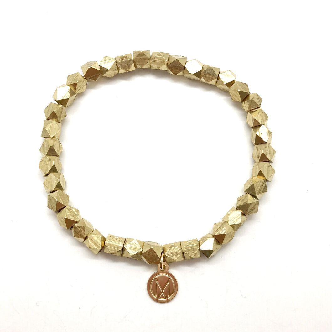 Faceted Brass Bracelet