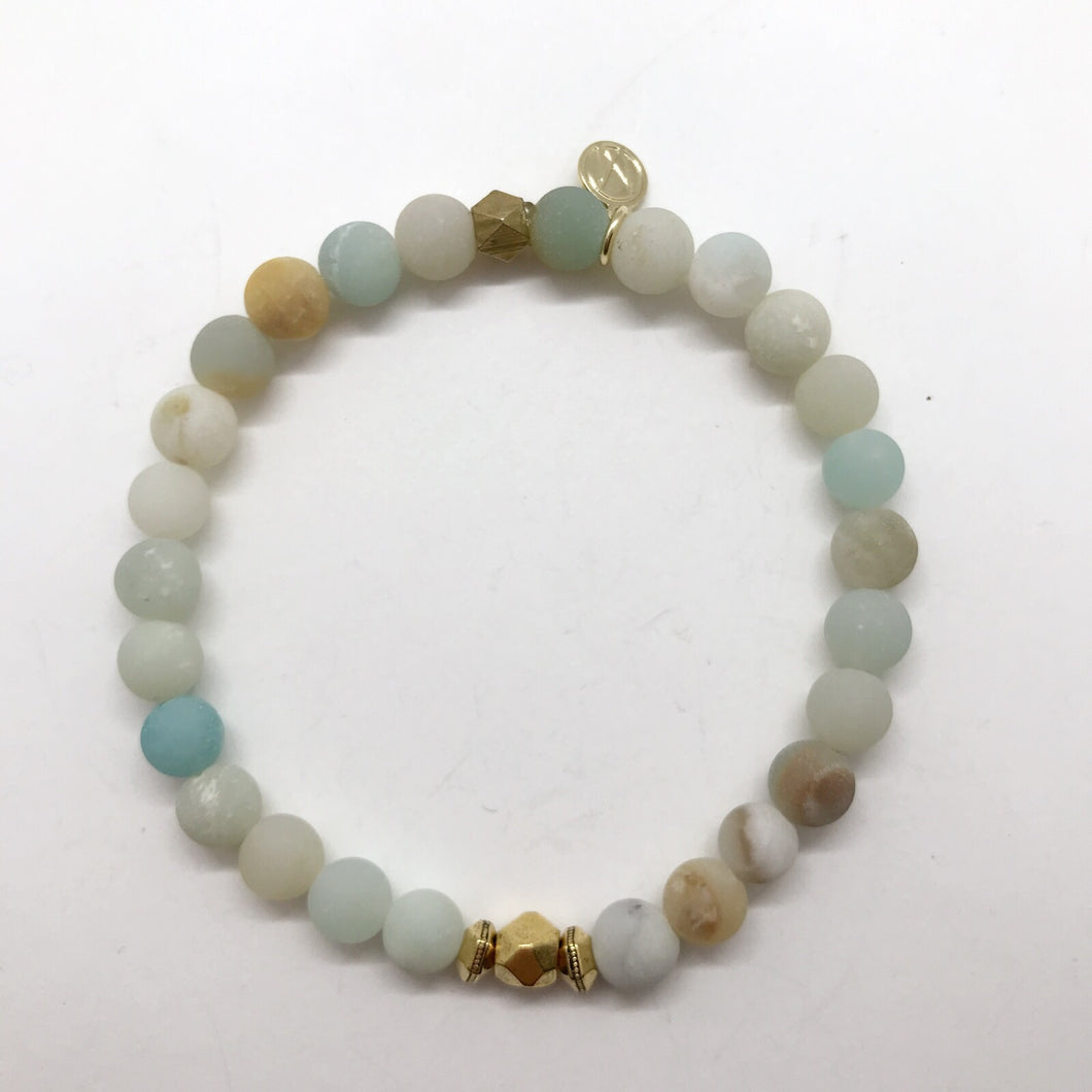 Rainbow Amazonite with centre detail