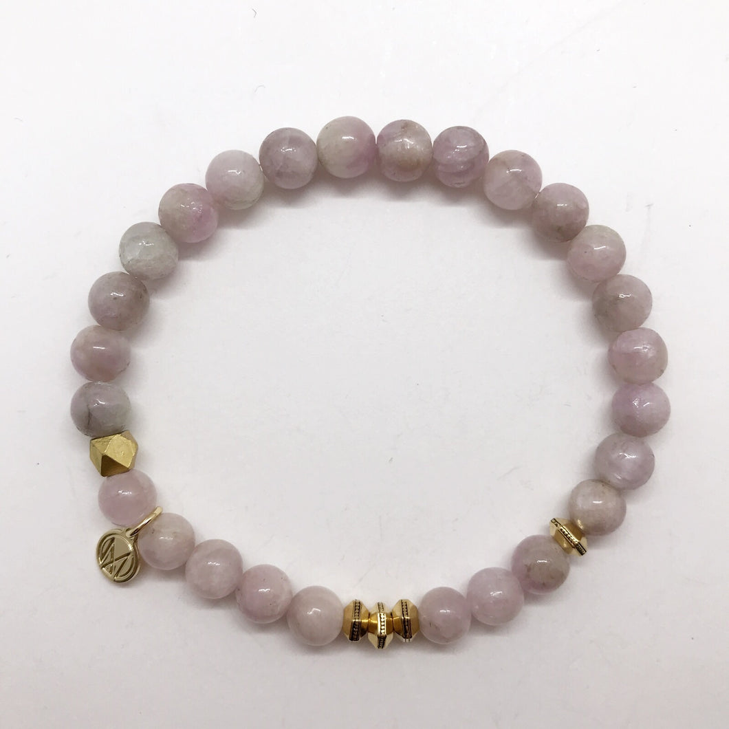 Kunzite with accent bead