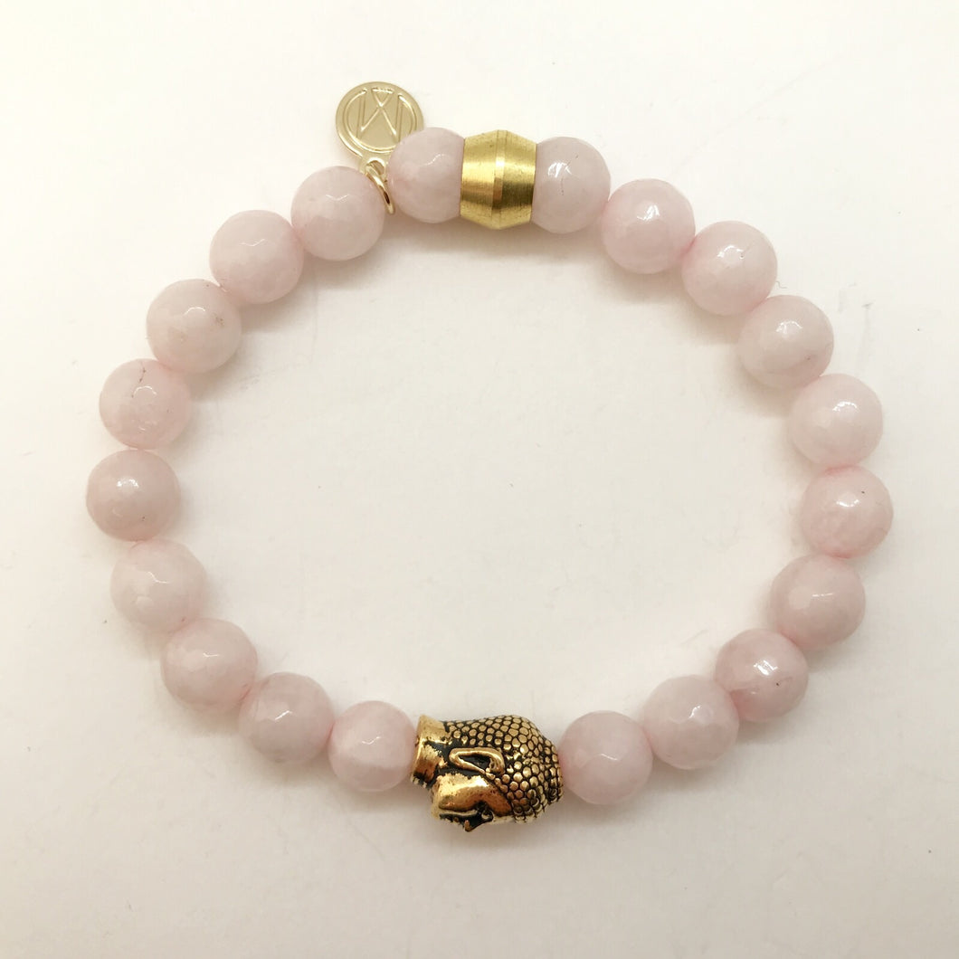 Rose Quartz with Buddha Bead