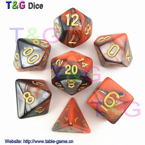 2 Color Marbled D&D Dice – SlobberBox