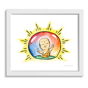 Buddha Bubble • Art Print